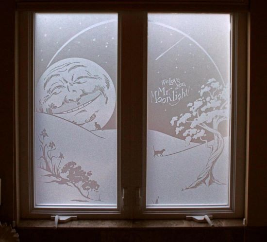 Lg Hausys Etched Glass Film For Window Decoration Signground