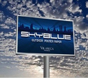Skyblue Poster Paper